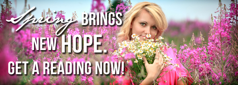 image of beautiful woman in a pink field of spring flowers